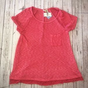 Chenault Missy coral top with pocket size large